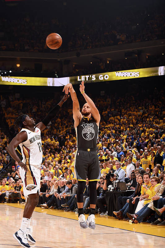Playoffs Art Print featuring the photograph Stephen Curry by Noah Graham