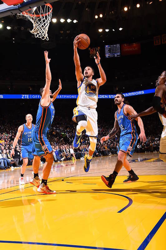 Nba Pro Basketball Art Print featuring the photograph Stephen Curry by Andrew D. Bernstein