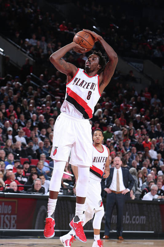 Nba Pro Basketball Art Print featuring the photograph Al-farouq Aminu by Sam Forencich