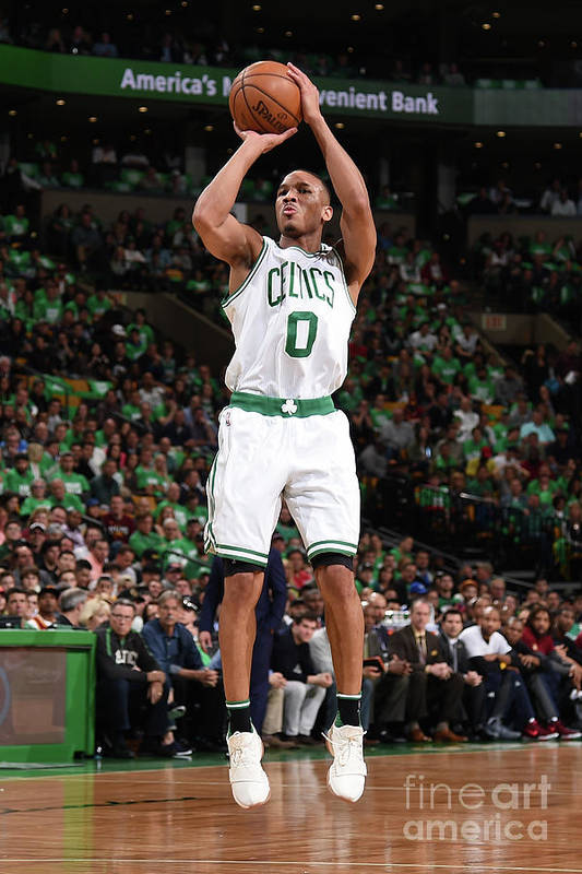 Playoffs Art Print featuring the photograph Avery Bradley by Brian Babineau