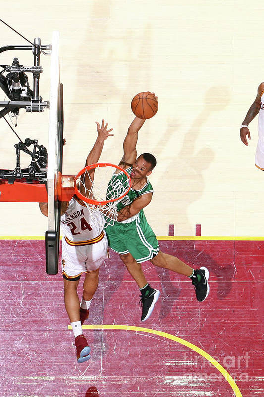 Playoffs Art Print featuring the photograph Avery Bradley by Nathaniel S. Butler