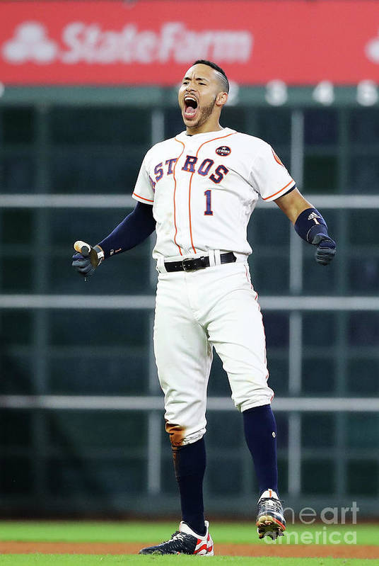Game Two Art Print featuring the photograph Carlos Correa by Elsa
