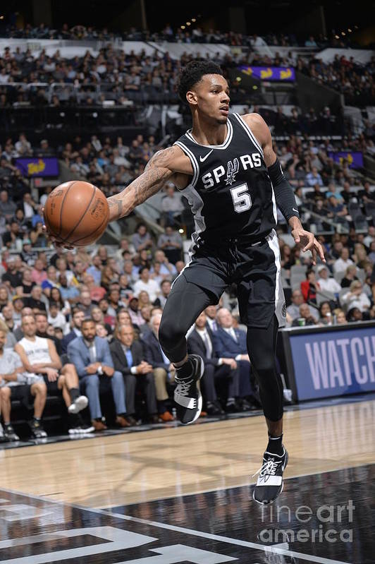 Sports Ball Art Print featuring the photograph Dejounte Murray by Mark Sobhani