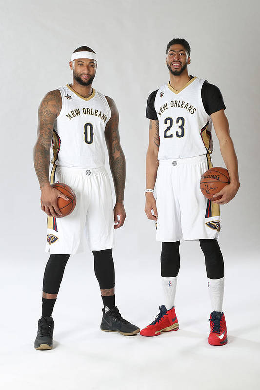 Nba Pro Basketball Art Print featuring the photograph Demarcus Cousins and Anthony Davis by Layne Murdoch