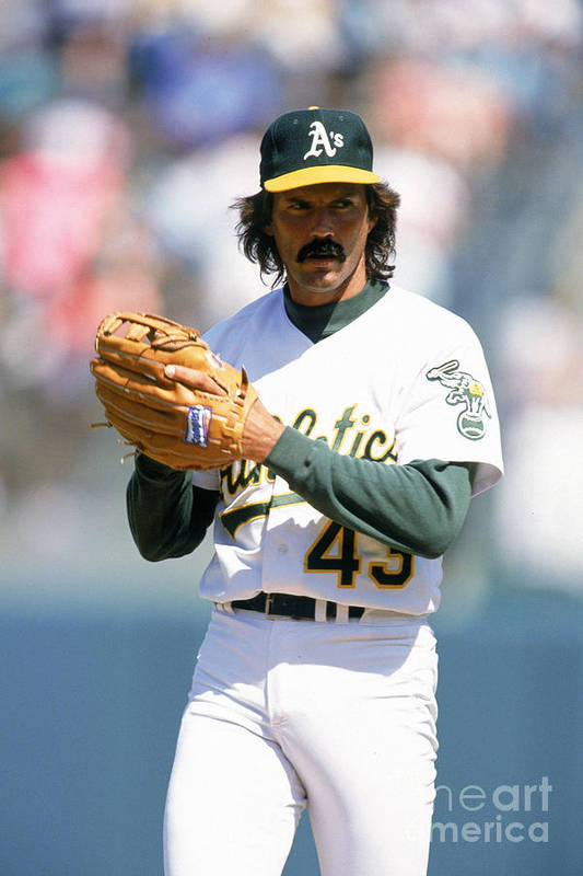 1980-1989 Art Print featuring the photograph Dennis Eckersley by Ron Vesely
