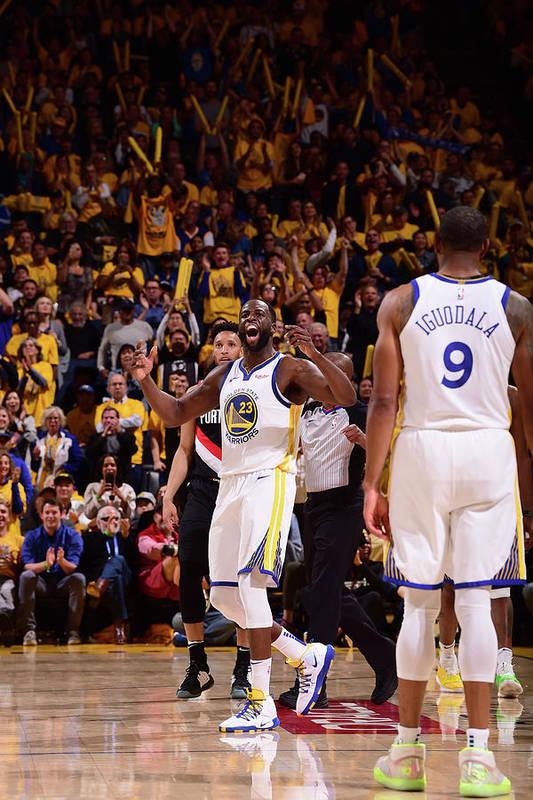 Playoffs Art Print featuring the photograph Draymond Green by Noah Graham