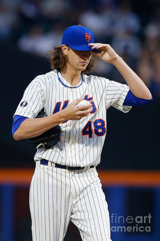 Jacob Degrom Art Print featuring the photograph Jacob Degrom by Mike Stobe