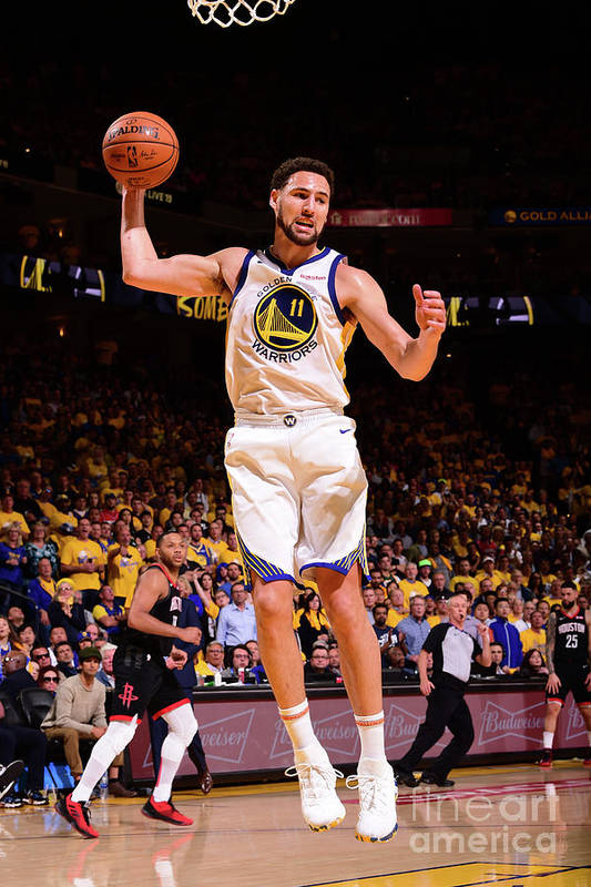 Playoffs Art Print featuring the photograph Klay Thompson by Noah Graham