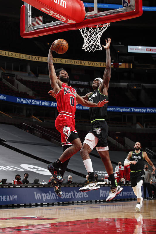 Coby White Art Print featuring the photograph Minnesota Timberwolves v Chicago Bulls by Jeff Haynes