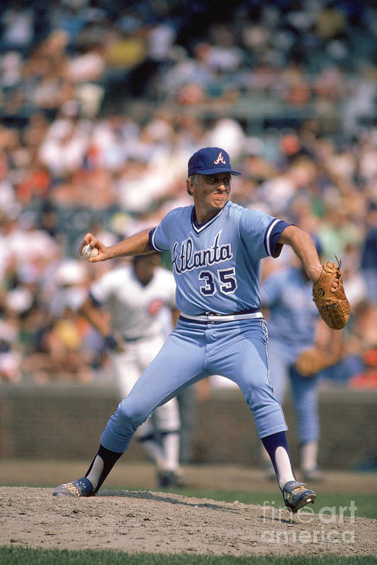 1980-1989 Art Print featuring the photograph Phil Niekro by Rich Pilling