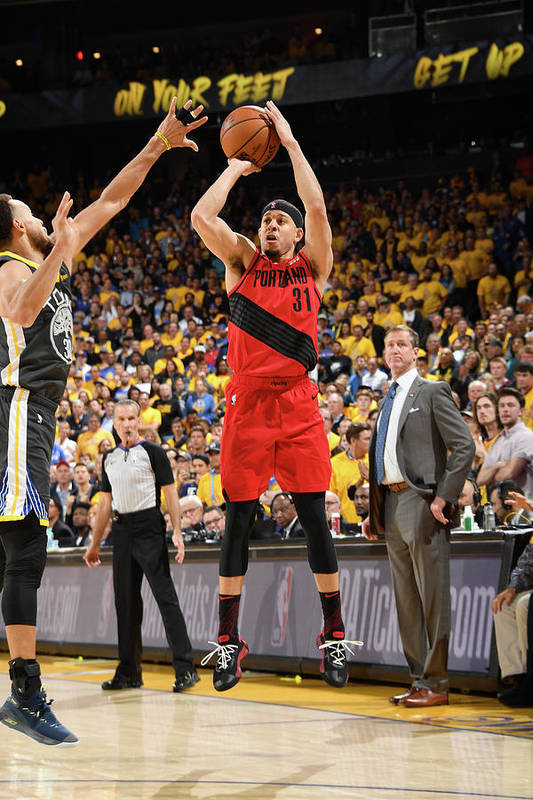 Game Two Art Print featuring the photograph Seth Curry by Andrew D. Bernstein