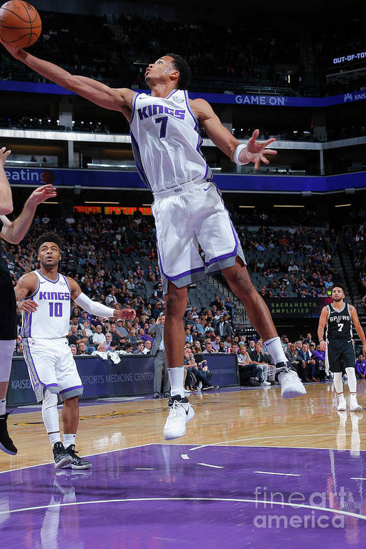 Nba Pro Basketball Art Print featuring the photograph Skal Labissiere by Rocky Widner