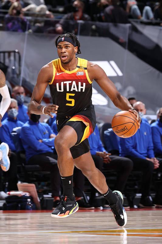 Nba Pro Basketball Art Print featuring the photograph Dallas Mavericks v Utah Jazz by Melissa Majchrzak