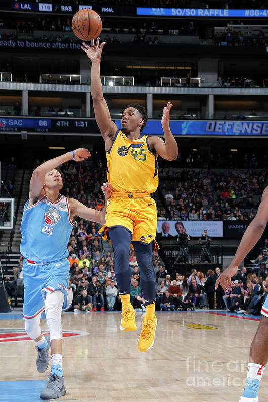 Nba Pro Basketball Art Print featuring the photograph Donovan Mitchell by Rocky Widner