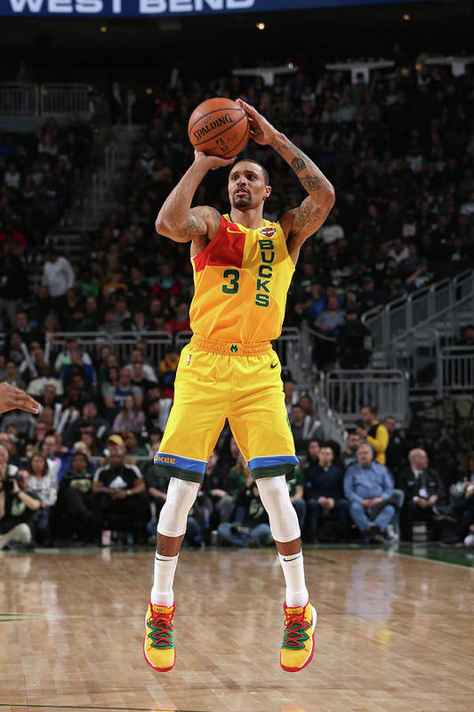 Nba Pro Basketball Art Print featuring the photograph George Hill by Gary Dineen