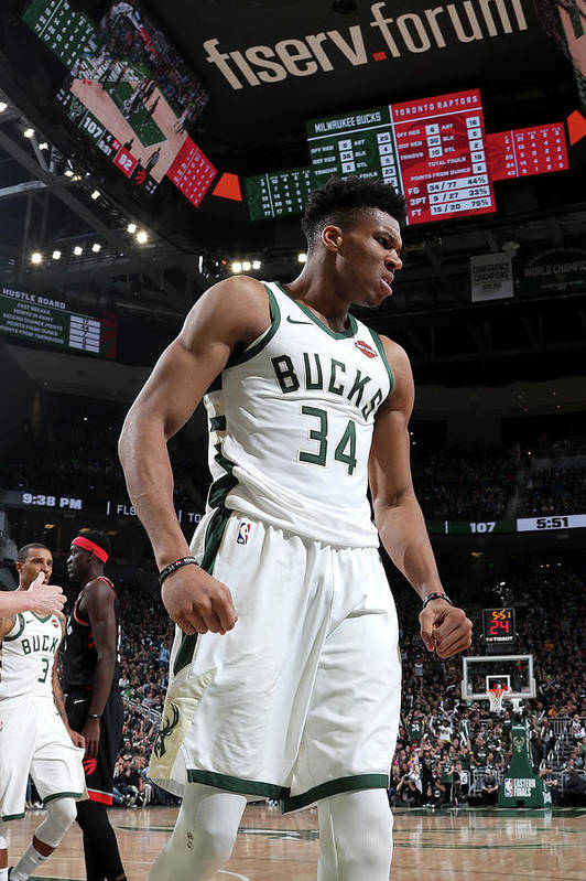 Game Two Art Print featuring the photograph Giannis Antetokounmpo by Nathaniel S. Butler