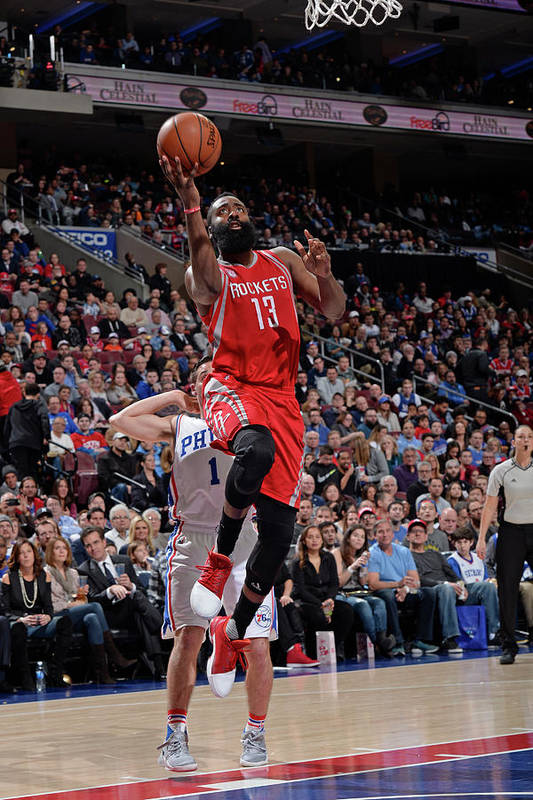 Nba Pro Basketball Art Print featuring the photograph James Harden by David Dow