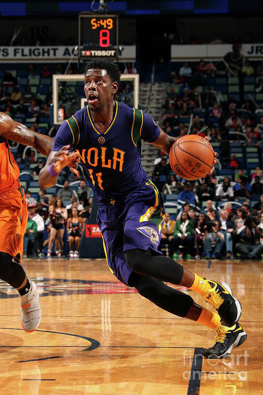 Smoothie King Center Art Print featuring the photograph Jrue Holiday by Layne Murdoch