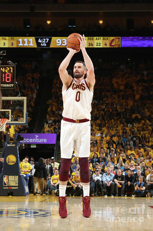 Playoffs Art Print featuring the photograph Kevin Love by Nathaniel S. Butler