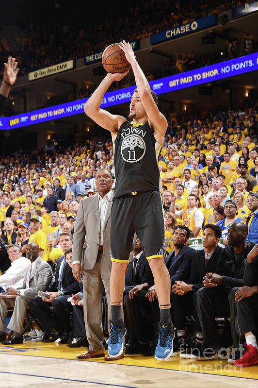 Playoffs Art Print featuring the photograph Klay Thompson by Andrew D. Bernstein