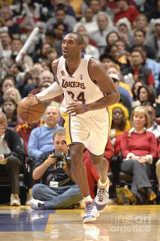 Nba Pro Basketball Art Print featuring the photograph Kobe Bryant by Noah Graham