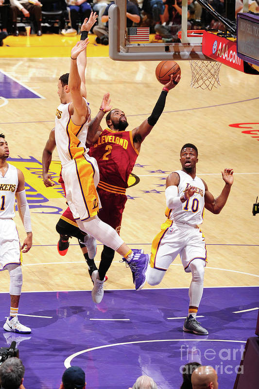 Nba Pro Basketball Art Print featuring the photograph Kyrie Irving by Andrew D. Bernstein