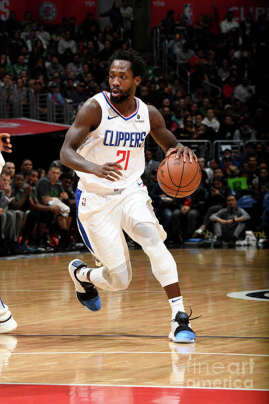 Nba Pro Basketball Art Print featuring the photograph Patrick Beverley by Andrew D. Bernstein