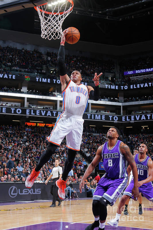 Nba Pro Basketball Art Print featuring the photograph Russell Westbrook by Rocky Widner