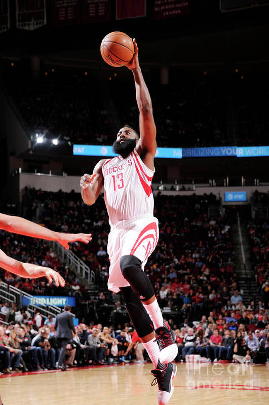 Nba Pro Basketball Art Print featuring the photograph James Harden by Bill Baptist