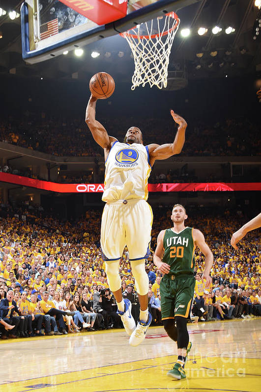 Playoffs Art Print featuring the photograph Andre Iguodala by Andrew D. Bernstein