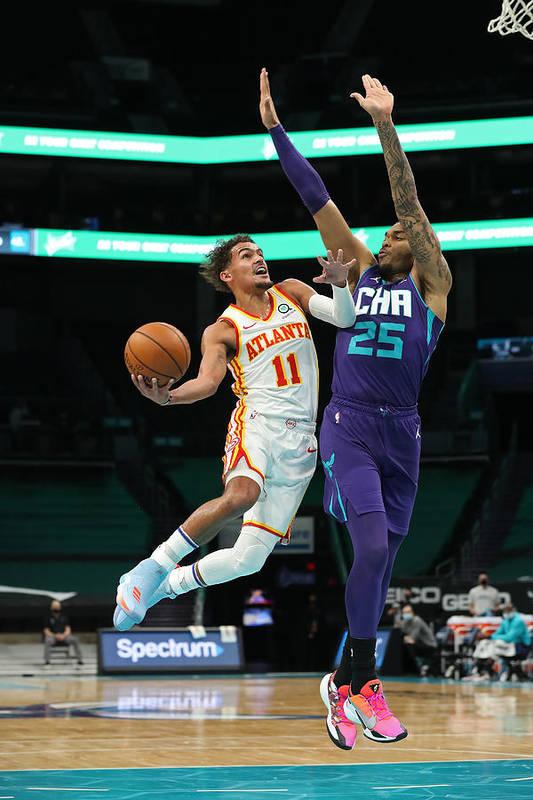 Nba Pro Basketball Art Print featuring the photograph Atlanta Hawks v Charlotte Hornets by Brock Williams-Smith