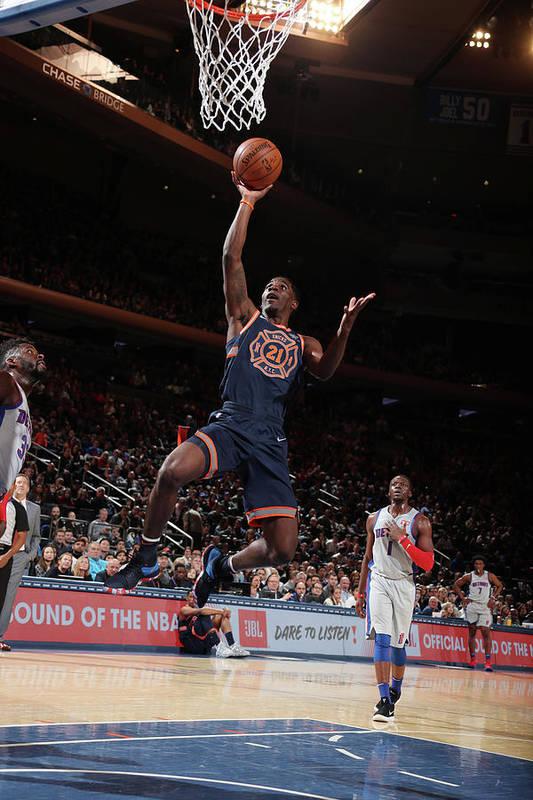 Nba Pro Basketball Art Print featuring the photograph Damyean Dotson by Nathaniel S. Butler