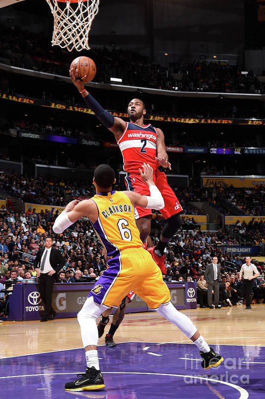 Nba Pro Basketball Art Print featuring the photograph John Wall by Andrew D. Bernstein