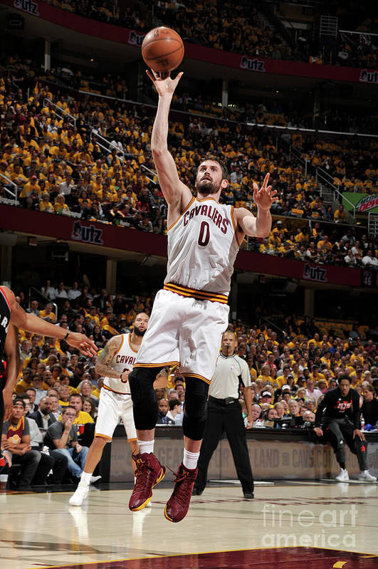 Playoffs Art Print featuring the photograph Kevin Love by David Liam Kyle