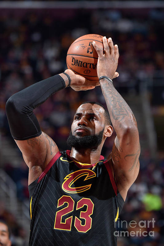 Playoffs Art Print featuring the photograph Lebron James by David Liam Kyle