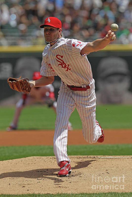 American League Baseball Art Print featuring the photograph Chris Sale by Jonathan Daniel