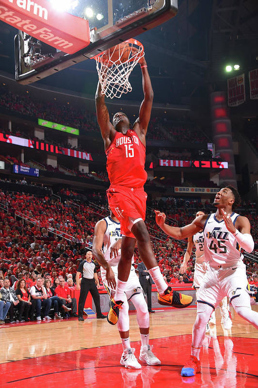 Playoffs Art Print featuring the photograph Clint Capela by Bill Baptist