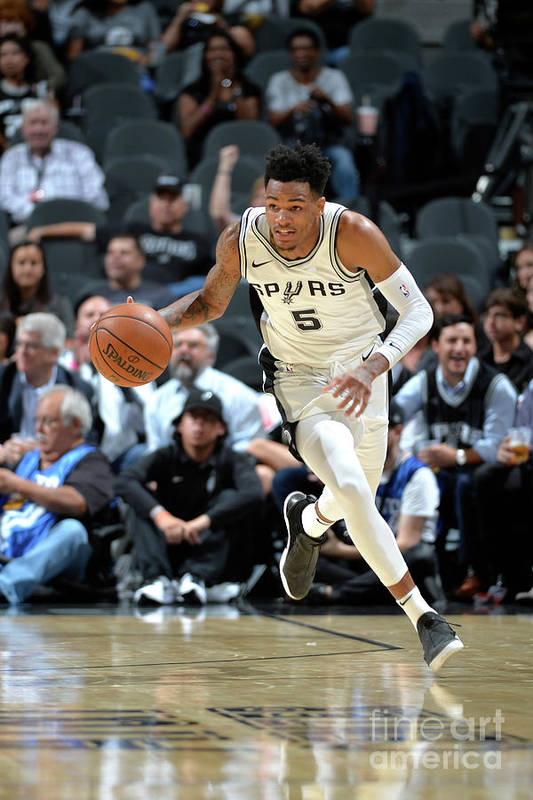 Nba Pro Basketball Art Print featuring the photograph Dejounte Murray by Mark Sobhani