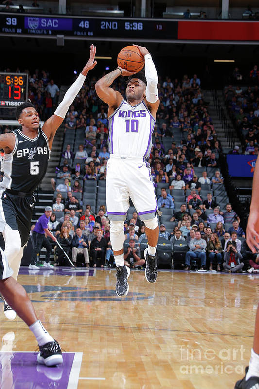Nba Pro Basketball Art Print featuring the photograph Frank Mason by Rocky Widner