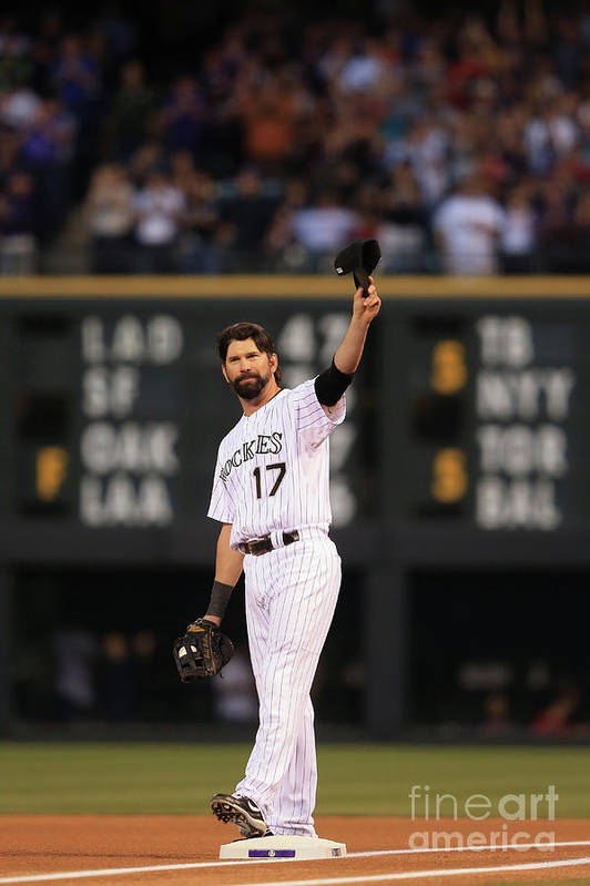 Crowd Art Print featuring the photograph Todd Helton by Doug Pensinger