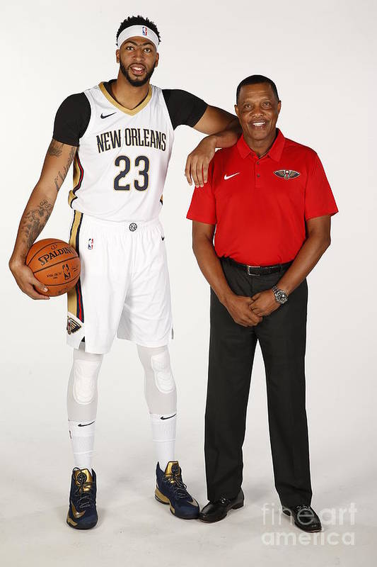 Media Day Art Print featuring the photograph Anthony Davis by Jonathan Bachman