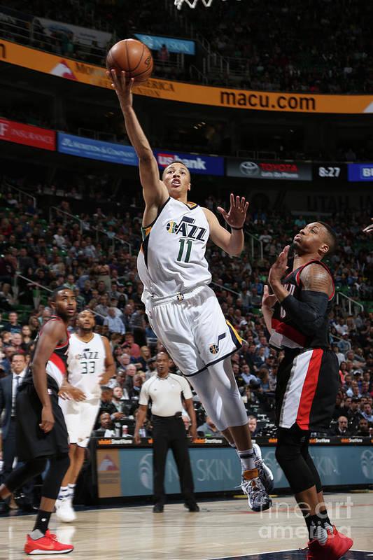 Nba Pro Basketball Art Print featuring the photograph Dante Exum by Melissa Majchrzak