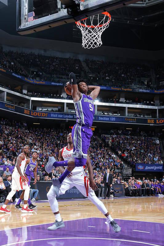 Nba Pro Basketball Art Print featuring the photograph De'aaron Fox by Rocky Widner