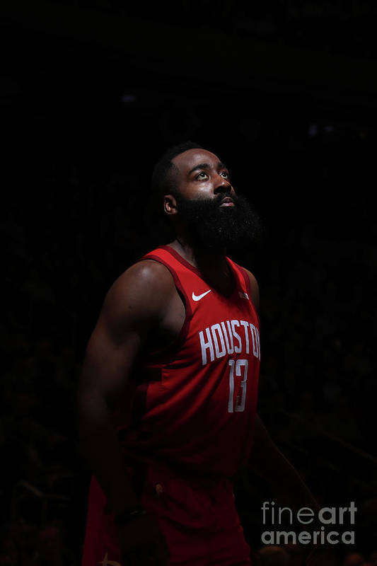 Nba Pro Basketball Art Print featuring the photograph James Harden by Nathaniel S. Butler