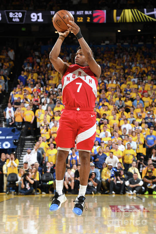 Playoffs Art Print featuring the photograph Kyle Lowry by Andrew D. Bernstein