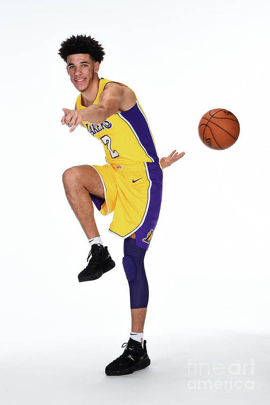 Media Day Art Print featuring the photograph Lonzo Ball by Andrew D. Bernstein