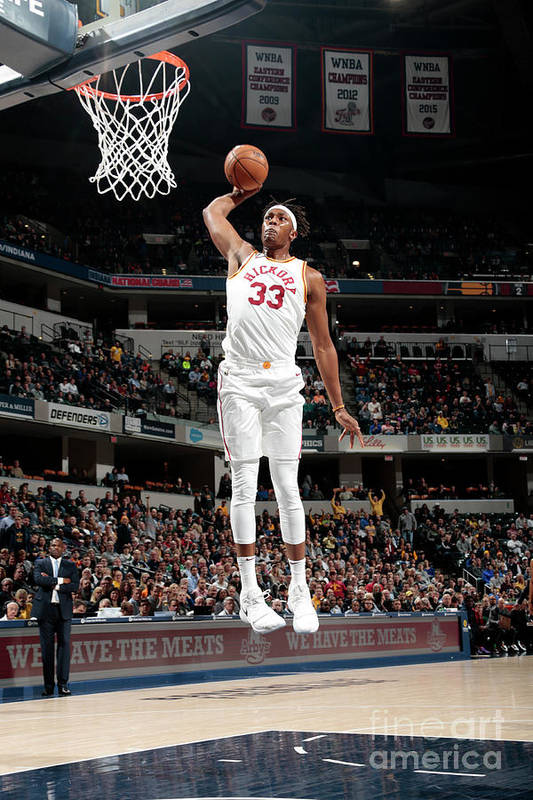 Nba Pro Basketball Art Print featuring the photograph Myles Turner by Ron Hoskins