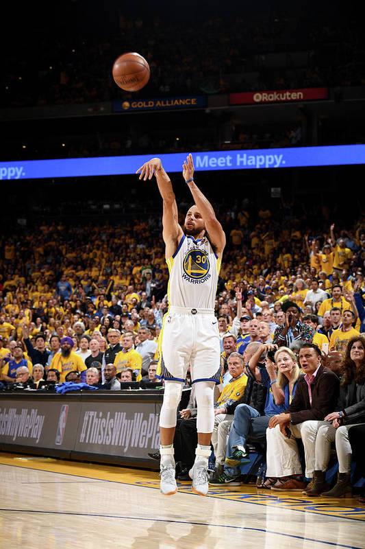 Playoffs Art Print featuring the photograph Stephen Curry by Garrett Ellwood