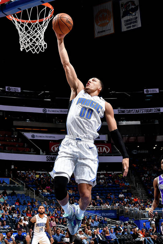 Nba Pro Basketball Art Print featuring the photograph Aaron Gordon by Fernando Medina