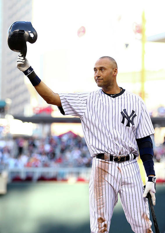 Crowd Art Print featuring the photograph Derek Jeter by Elsa